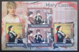 Poštovní známky Burundi 2012 Umìní, Mary Cassatt DELUXE Mi# 2331-32 Kat 10€