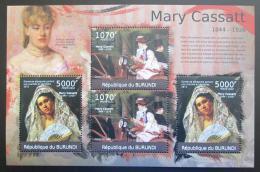 Poštovní známky Burundi 2012 Umìní, Mary Cassatt DELUXE Mi# 2333-34 Kat 10€