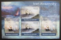 Poštovní známky Burundi 2012 Umìní, Ivan Ajvazovskij DELUXE Mi# 2339,2941 Kat 10€