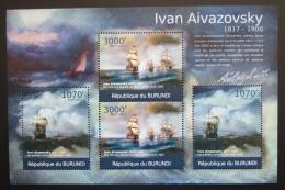 Poštovní známky Burundi 2012 Umìní, Ivan Ajvazovskij DELUXE Mi# 2340,2342 Kat 10€