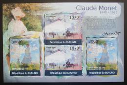 Poštovní známky Burundi 2012 Umìní, Claude Monet DELUXE Mi# 2356,2358 Kat 10€