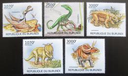 Poštovní známky Burundi 2012 Dinosauøi Mi# 2555-59 Kat 10€