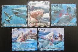 Poštovní známky Burundi 2012 Žralok bílý Mi# 2550-54 Kat 10€