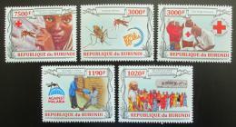 Poštovní známky Burundi 2013 Boj proti malárii Mi# 3158-62 Kat 10€
