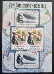 Poštovní známky Burundi 2012 Zkáza Hindenburgu, 75. výroèí Mi# 2391-92 Kat 10€
