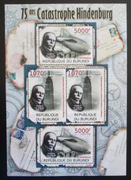 Poštovní známky Burundi 2012 Zkáza Hindenburgu, 75. výroèí Mi# 2393-94 Kat 10€