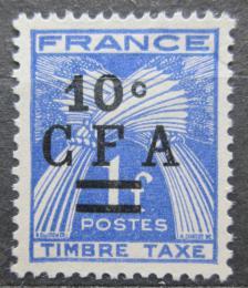 Poštovní známka Reunion 1949 Doplatní pøetisk Mi# 36