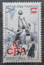 Poštovní známka Reunion 1956 Basketbal pøetisk Mi# 392