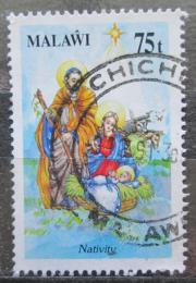 Poštovní známka Malawi 1991 Vánoce, zrození Mi# 579