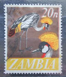 Poštovní známka Zambie 1968 Jeøáb paví Mi# 46