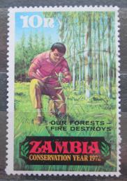 Poštovní známka Zambie 1972 Sázení stromkù Mi# 82
