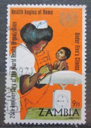 Poštovní známka Zambie 1973 WHO, 25. výroèí Mi# 112