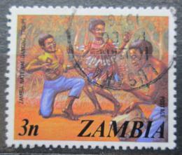 Poštovní známka Zambie 1975 Taneèní skupina Mi# 143