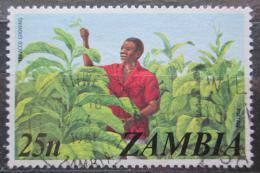 Poštovní známka Zambie 1975 Sklizeò tabáku Mi# 151