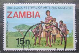 Poštovní známka Zambie 1977 Tradièní ceremonie Mi# 178