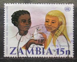 Poštovní známka Zambie 1977 Boj proti rasové diskriminaci Mi# 188