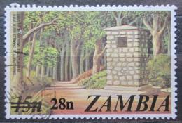 Poštovní známka Zambie 1979 Památník nezávislosti pøetisk Mi# 200
