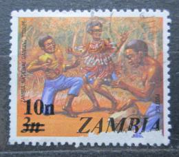 Poštovní známka Zambie 1979 Hudební skupina pøetisk Mi# 198
