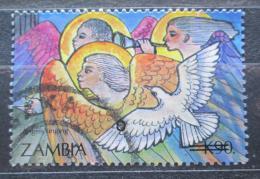 Poštovní známka Zambie 1996 Vánoce pøetisk Mi# 660 O