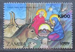Poštovní známka Zambie 1996 Vánoce pøetisk Mi# 661