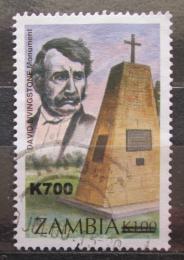 Poštovní známka Zambie 2000 Livingstonùv památník pøetisk Mi# 1137