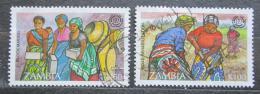 Poštovní známky Zambie 1995 ILO, 75. výroèí Mi# 645-46