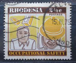 Poštovní známka Rhodésie, Zimbabwe 1975 Bezpeènost práce Mi# 166