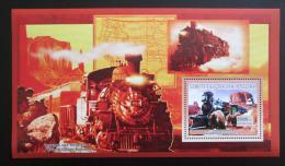 Poštovní známka Guinea 2006 Parní lokomotivy Mi# Block 1037