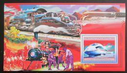 Poštovní známka Guinea 2006 Americké lokomotivy Mi# Block 1040