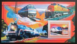 Poštovní známka Guinea 2006 Americké lokomotivy Mi# Block 1041