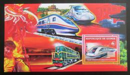 Poštovní známka Guinea 2006 Èínské lokomotivy Mi# Block 1043