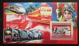 Poštovní známka Guinea 2006 Èínské lokomotivy Mi# Block 1044