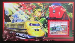Poštovní známka Guinea 2006 Japonské lokomotivy Mi# Block 1048