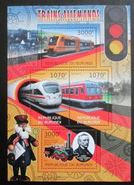 Poštovní známky Burundi 2012 Nìmecké lokomotivy Mi# 2445-48 Kat 10€