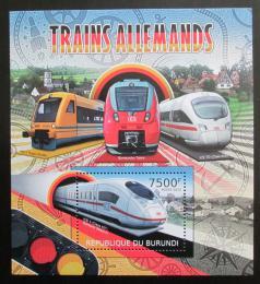Poštovní známka Burundi 2012 Nìmecké lokomotivy Mi# Block 222 Kat 9€