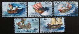 Poštovní známky Burundi 2012 Støedovìké plachetnice Mi# 2858-62 Kat 10€