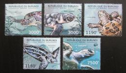 Poštovní známky Burundi 2012 Želvy Mi# 2788-92 Kat 10€