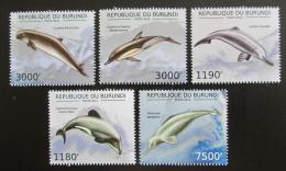 Poštovní známky Burundi 2012 Delfíni Mi# 2843-47 Kat 10€