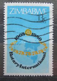 Poštovní známka Zimbabwe 1980 Rotary Intl., 75. výroèí Mi# 243