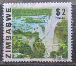 Poštovní známka Zimbabwe 1980 Viktoriiny vodopády Mi# 241