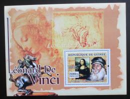 Poštovní známka Guinea 2007 Umìní, Leonardo da Vinci Mi# Block 1244 Kat 7€