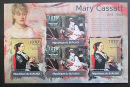 Poštovní známky Burundi 2012 Umìní, Mary Cassatt DELUXE Mi# 2331,2333 Kat 10€