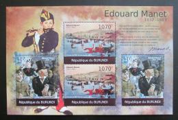 Poštovní známky Burundi 2012 Umìní, Edouard Manet DELUXE Mi# 2315,2317 Kat 10€