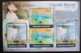 Poštovní známky Burundi 2012 Umìní, Claude Monet DELUXE Mi# 2357-2358 Kat 10€