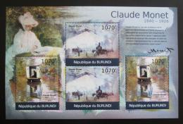 Poštovní známky Burundi 2012 Umìní, Claude Monet DELUXE Mi# 2355-56 Kat 10€