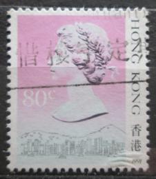 Poštovní známka Hongkong 1991 Královna Alžbìta II. Mi# 512 V