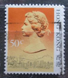 Poštovní známka Hongkong 1987 Královna Alžbìta II. Mi# 509 I