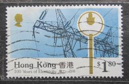 Poštovní známka Hongkong 1990 Elektrifikace, 100. výroèí Mi# 597