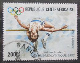 Poštovní známka SAR 1987 LOH Soul, skok do výšky Mi# 1283