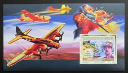 Poštovní známka Guinea 2006 Charles de Gaulle a váleèná letadla Mi# Block 1098